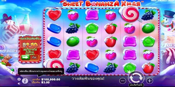 วิธีเล่น Sweet bonaza X mas