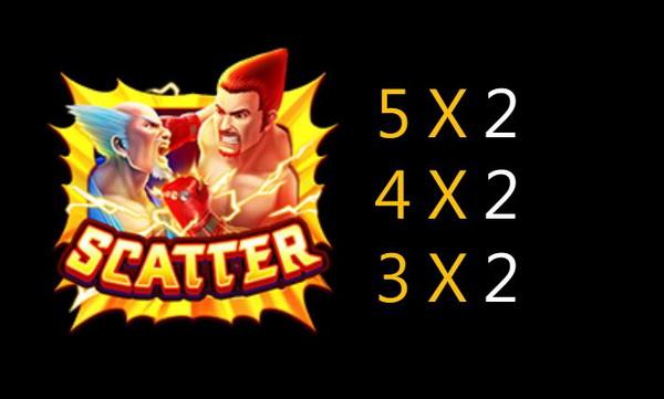 สัญลักษณ์ Scatter เกมส์สล็อตราชามวย