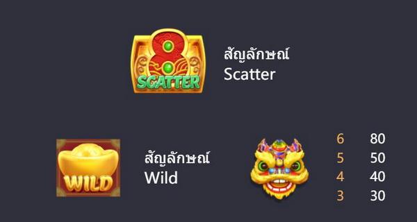 สัญลักษณ์ Scatter และ สัญลักษณ์ wild