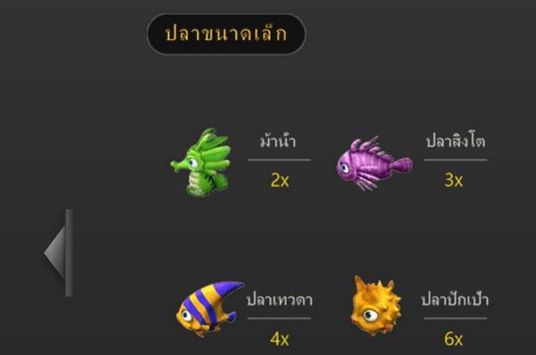สัญลักษณ์ภาพปลาขนาดเล็ก