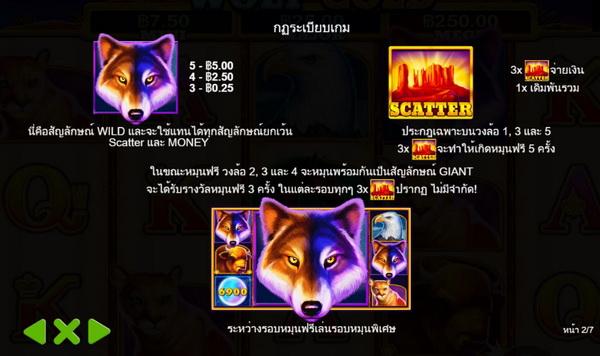 สัญลักษณ์ wild เกมส์หมาป่าทอง