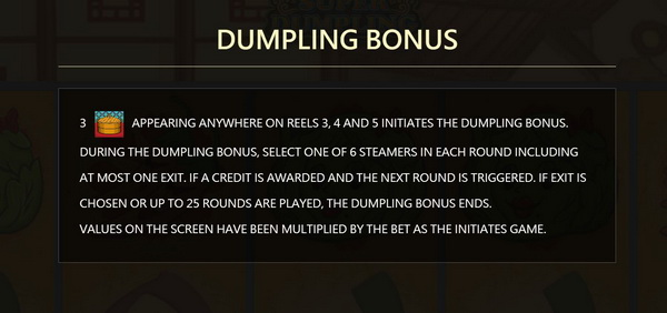 Bonus Super Dumpling