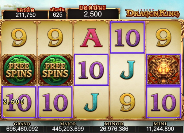 Formula to play Dragon king Slot for money