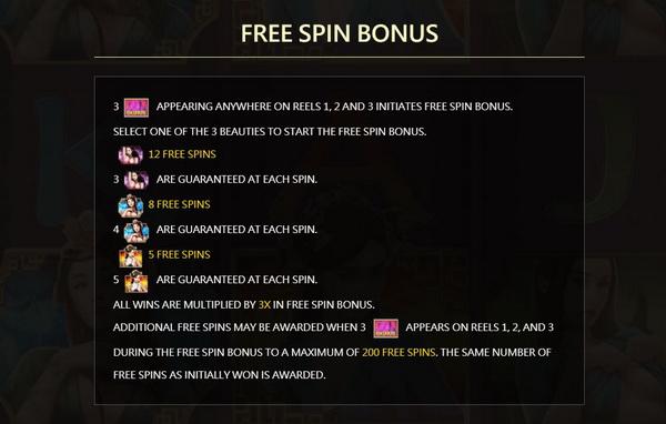 Free spins bonus ChinaRouge