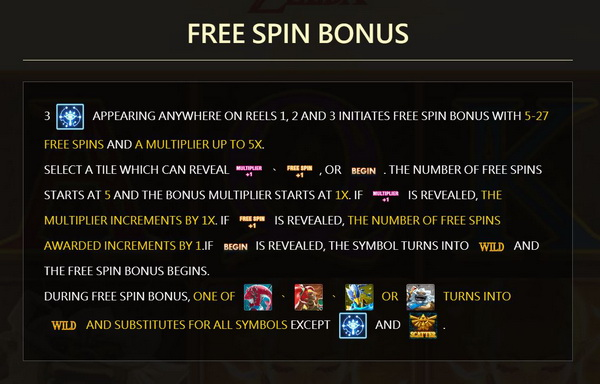 Free spins bonus Zelda