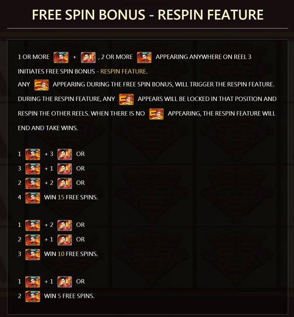 Free spin bonus feature flirting scholar tang 2
