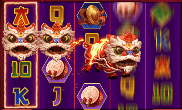 Lion symbol of Dancing Lion Slot