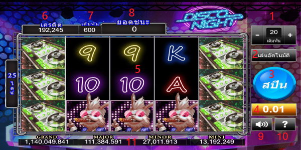 Play guide Disco night slot