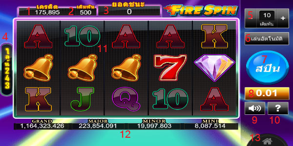 Play guide Fire Spin Slot