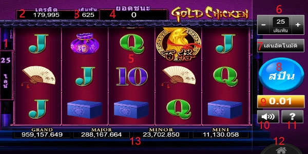 Play guide Gold Chicken Slot