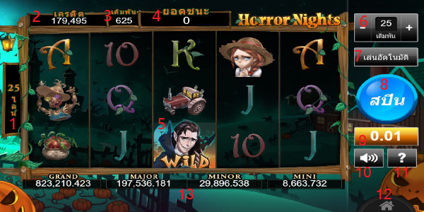 Play guide Horror Nights Slot
