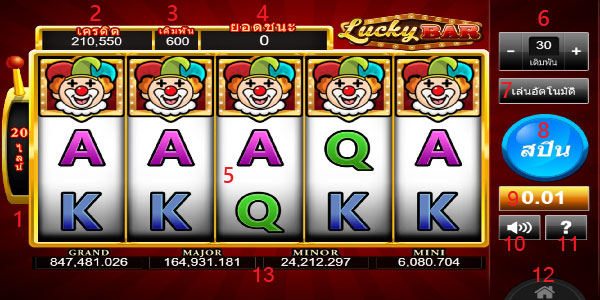 Play guide Lucky Bar slot