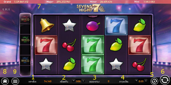 Play guide Sevens High Slot