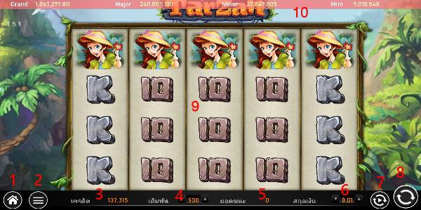 How to play Tarzan slot