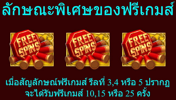 Special features of free games Dancing Lion Slot