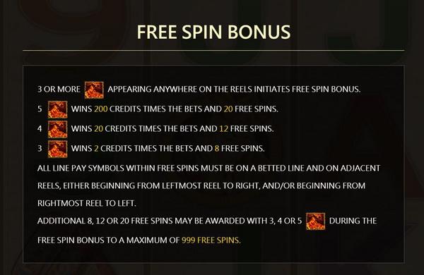 Free spins bonus Wukong Slot
