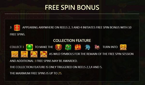 free spin bonus Legendary5 Slot