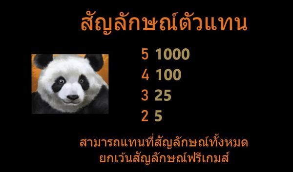 สัญลักษณ์ตัวแทน mystery panda