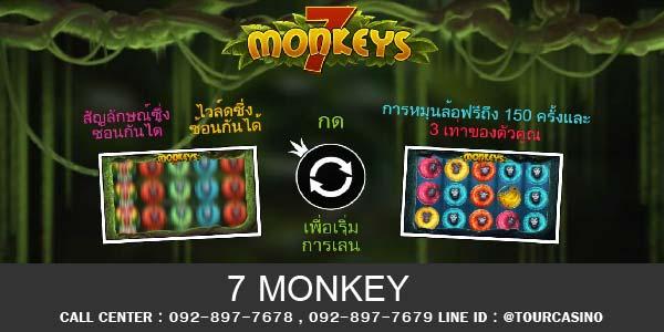 เกมส์สล็อต 7 Monkeys
