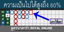 สูตรบาคาร่า Royal online